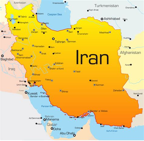 map or iran map of iran with cities 2 world maps