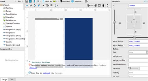android studio layout rendering problems rendering problems android studio 2 2 constraint layout