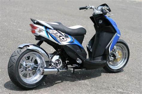 Spion Mini Bulat Yamaha Blue yamaha mio modified scooter ruckus motors