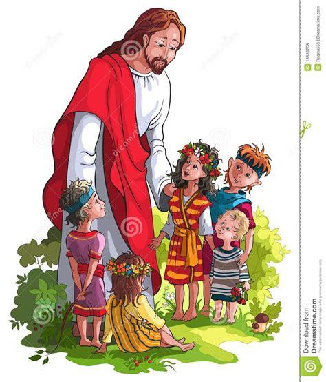 imagenes de jesucristo con los niños jes 250 s con los ni 241 os fotos de archivo libres de regal 237 as