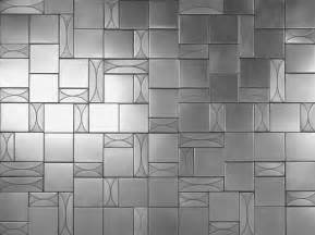 Stainless Steel Mosaic Backsplash - stainless steel and bronze tiles the lineage tile line from flux studios