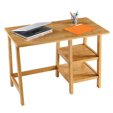 Office Depot Student Desk Brenton Studio Donovan Student Desk 30 14 H X 43 W X 22 D Oak By Office Depot Officemax