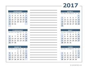 Page Blank Calendar Template by Blank Two Page Calendar Template 2017 Free Printable