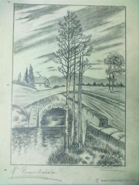 imagenes de paisajes lapiz puente paisaje dibujo a lapiz fechado 1934 y fi comprar