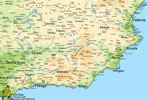 southern spain map map of southern spain imsa kolese