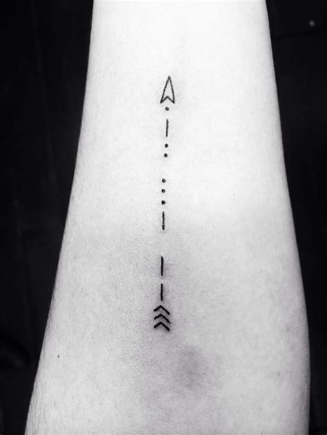 cute arrow tattoos my morse code arrow ideas tattoos