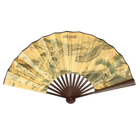 chinese paper fan decoration popular large chinese fans buy cheap large chinese fans