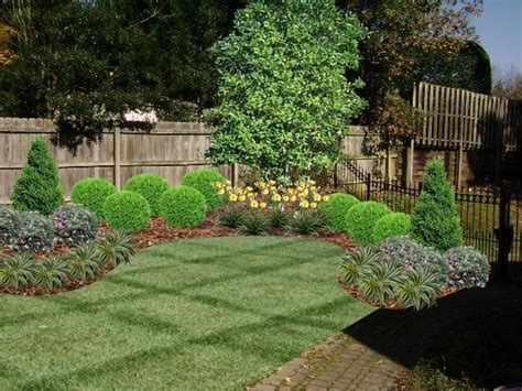 fence line landscaping idea landscape ideas