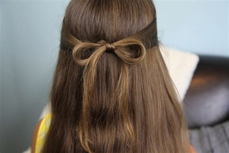 easy girls hairdo hair bows cute girls hairstyles