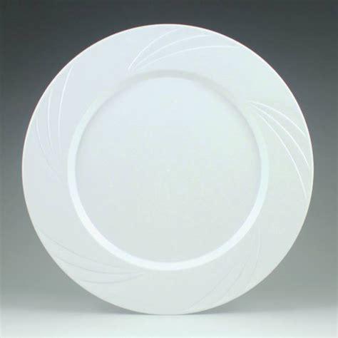 white newbury 734inch heavy duty elegant plastic plates