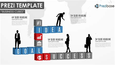 custom prezi templates business cubes prezi template prezibase