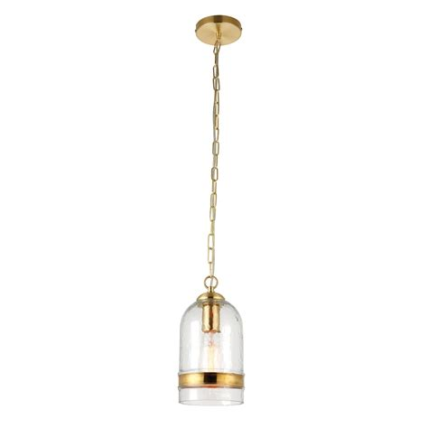 Single Pendant Ceiling Lights Endon Lighting Delia Single Light Ceiling Pendant In Clear Glass And Brass Plate Effect Finish