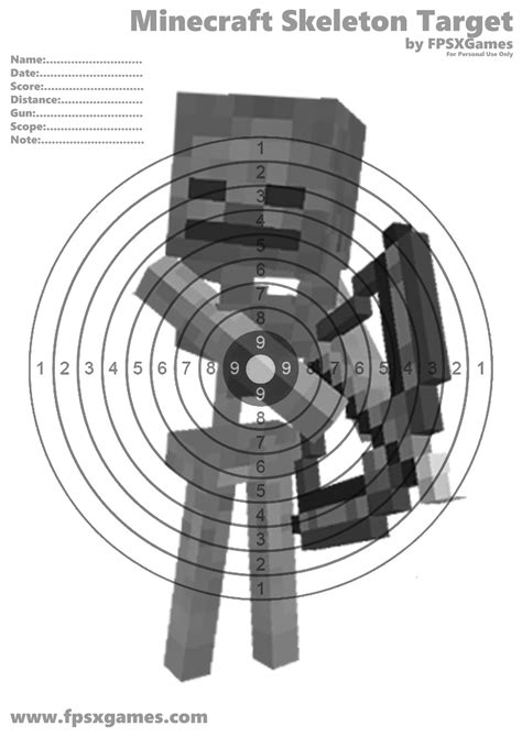Minecraft Papercraft Target - printable minecraft target projekty na vysk 250 紂anie