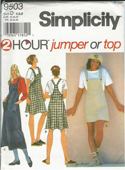 jumper pattern simplicity simplicity 9503 sewing pattern teens and womens 2 hour