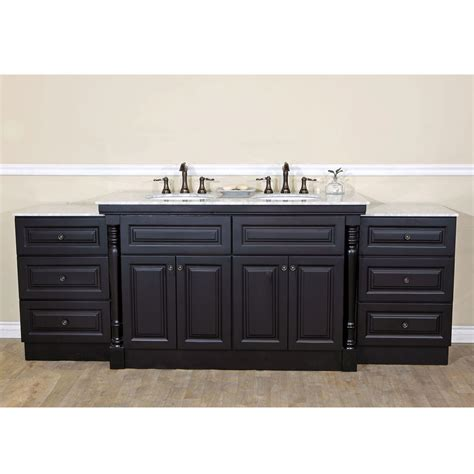 10 inch bathroom sink bellaterra home 605522c double sink bathroom vanity dark