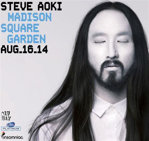 Steve Aoki Square Garden steve aoki reveals new headlining show at
