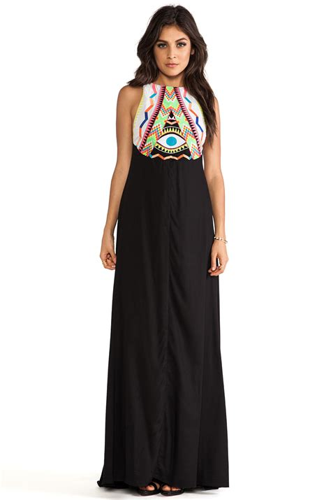 embroidered maxi dress mara hoffman embroidered maxi dress in black lyst