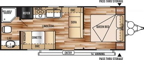 Four Winds Travel Trailer Floor Plans by 2017 Forest River 241qbxl Cruise Lite Travel Trailer