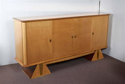 modernist sycamore cabinet with pyramid base for