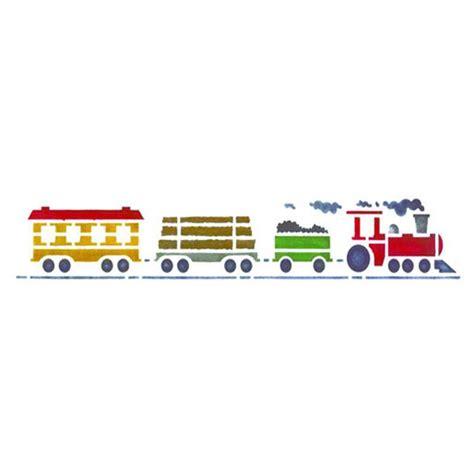 bordure kinderzimmer schablone motivschablone mit dflokomotive und drei anh 228 ngern als