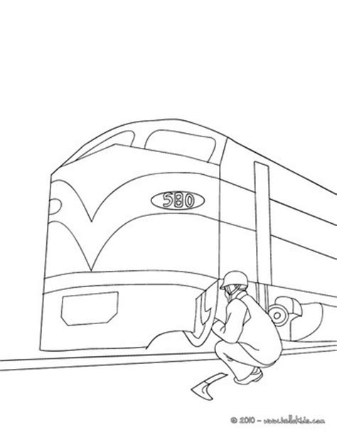 electric train coloring page mechanic repairing an electric train coloring pages