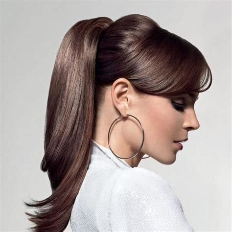 Women's Hairstyles: Ponytail Hairstyles For Work With Bangs, easy hairstyles for work pinterest