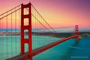 Golden Home Decor quot golden gate bridge sunset quot by anthony gutteridge