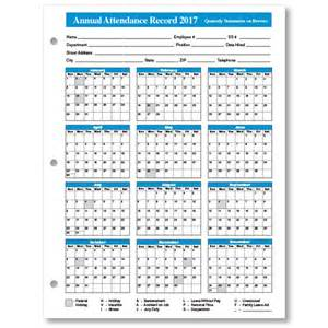 Monthly Attendance Record Template by Annual Attendance Record Attendance Calendar Templates