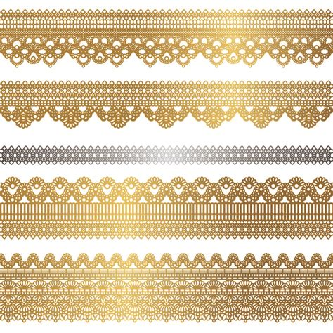 Gold Pattern Border | gold lace pattern 02 vector free vector 4vector