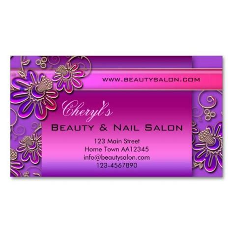 Salon Appointment Card Template by Nail Salon Appointment Business Card Nail Salon
