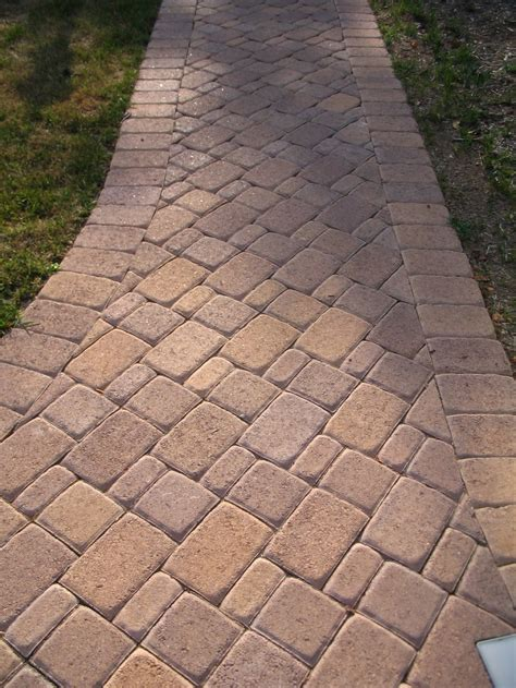 4 X 8 Patio Pavers Brick Paver Parking Driveway Decor Tips Driveway Pavers For Your Front Yard Design W