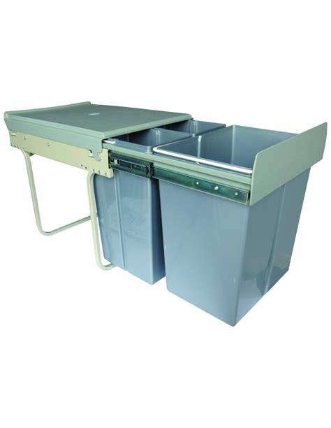 sink recycling bin benni 400mm 40 litre waste bin containers pull