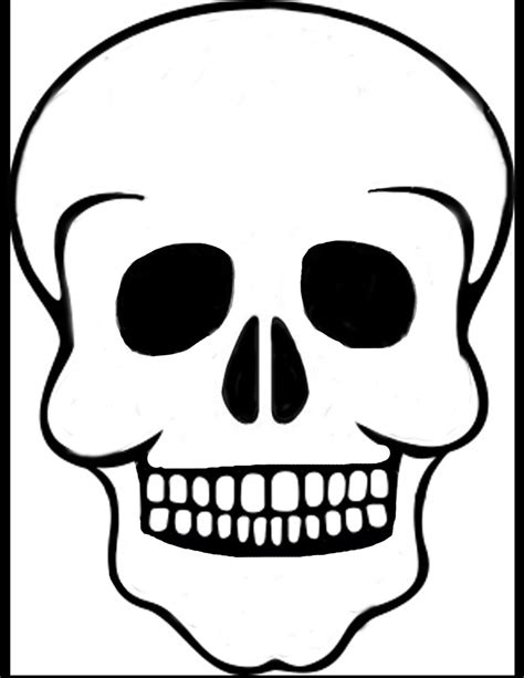 printable skull template skull template by solitairemiles on deviantart