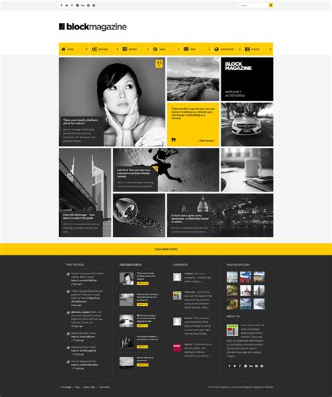 magazine responsive layout block magazine flat minimalist blog theme