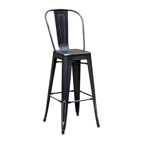 bar stools high back black weathered high back tolix bar stool