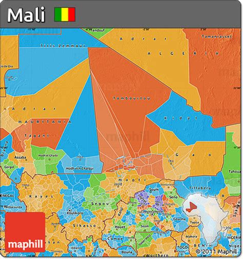 political map of mali free political map of mali