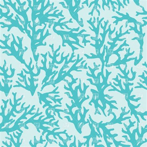 coral pattern seamless pattern with blue coral vector image 39027