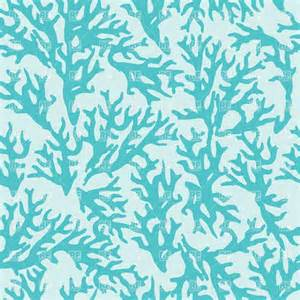 seamless pattern with blue coral vector image 39027
