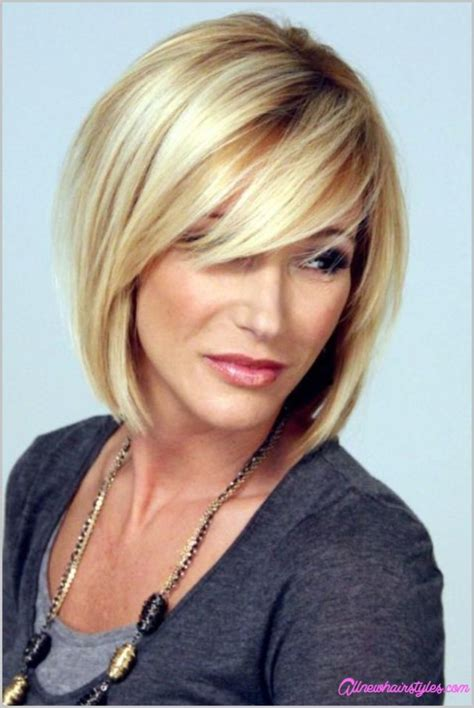 Flattering Short Haircut with Side Swept Bangs for Women