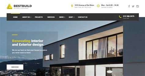 wordpress themes for house builders how to start a construction website with bestbuild