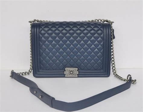 Replica Chanel Purse by Chanel A67087 Royalblue Sheepskin Leather Le Boy Flap