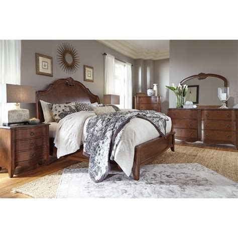 sleigh bedroom sets queen ashley balinder 5 piece queen sleigh bedroom set in medium