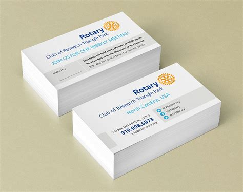 rotary card template business cards designpoint inc