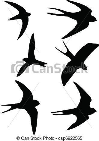 Barn Swallow Tattoo Designs Vecteur Clipart De Silhouettes Hirondelles Swallows