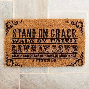 Christian Doormats by Door Mat With Bible Verse Diy Gift Ideas Home Decor