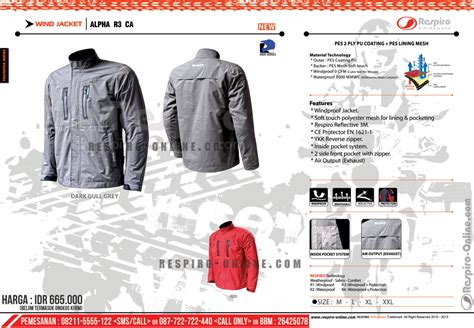 Jaket Anti Air Scode jaket motor respiro jaket anti angin 100 anti air auto design tech
