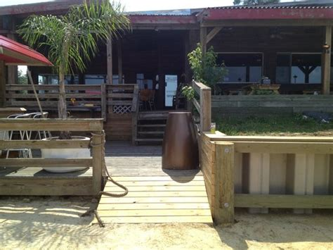 The Waterfront Dining Bar Patio by The Sand Patio And Tiki Bar Picture Of The Landing