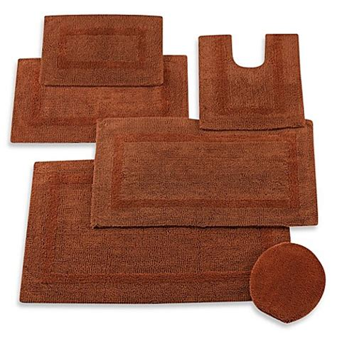 Reversible Bathroom Rugs Buy Wamsutta 174 Reversible Contour Bath Rug In Brick From Bed Bath Beyond