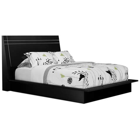 platform bed black city furniture dimora3 black wood platform bed