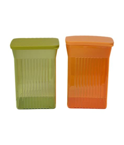 Tupperware Family Mate tupperware family mate square containers set of 2 buy at best price in india snapdeal